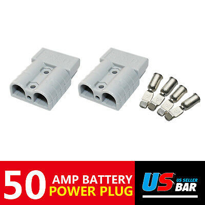 4pcs 50A Battery Charger Power Terminal Plug Quick Connector Winches Forklift