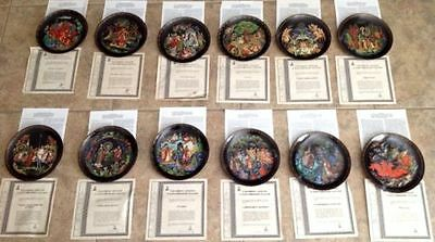 Russian Legends Plates Complete Set Of 12 The Bradford Exchange wWith COA'S Mint