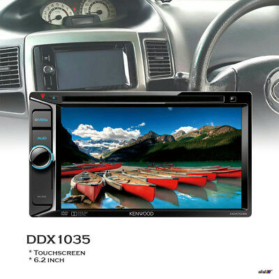 Kenwood DDX1035 6.2 Inch Plug & Play Touchscreen Double DIN DVD Stereo Receiver