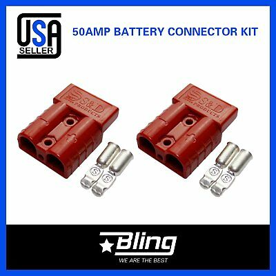 2x SB50A Red Battery Power Terminal Plug Kit For Trailer Towing Caravan Forklist