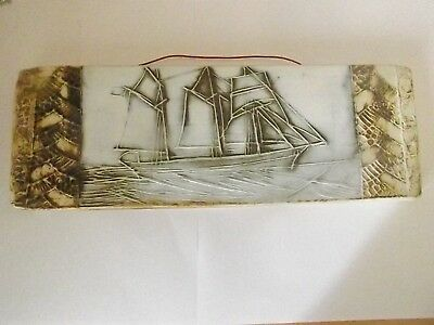 Carn Pottery Sailing Ship Plaque
