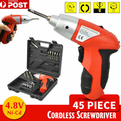 45in1 Electric Drill Driver Wireless 180° Foldable Cordless Screwdriver Bits Set
