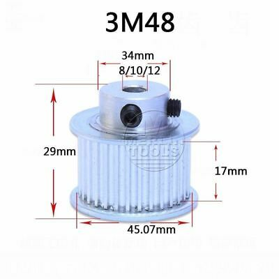 3M 3mm Pitch 48 Teeth Timing Belt Pulley 17mm Tooth wide 8 to 12mm Bore Select
