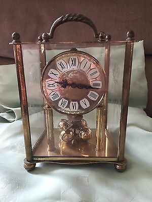 Vintage Brass German Anniversary Clock S. Haller Simonswald Spares Or Repair