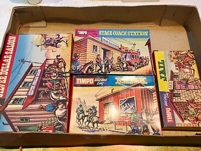 Timpo Wild West City Circa 1968 Rare Boxed Set Britains Made In Uk Toy Soldiers