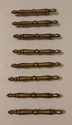 Lot of 8 Solid Brass Drawer Pulls / Cabinet Hardware