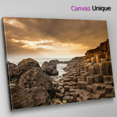 SC829 brown giants causeway  Scenic Wall Art Picture Large Canvas Print