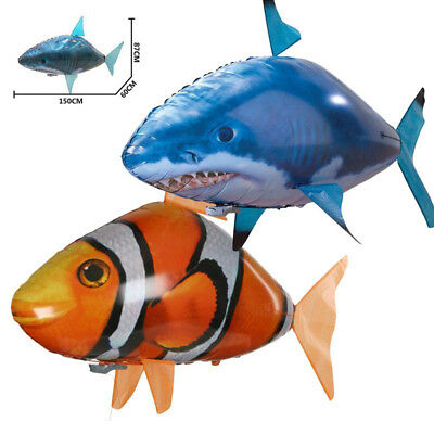 Air Swimmer Remote Control RC Flying Inflatable Fish TOY Blimp Balloon AUS DIY