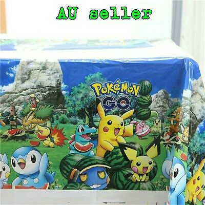 1 X Pokemon Table Cover Table Cloth Pokemon Party Supplies
