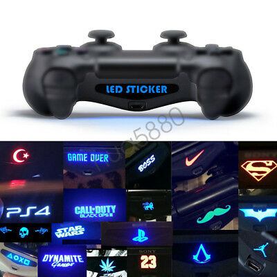 LED Light Bar Cover Decal Skin Sticker Sony PlayStation 4 PS4 Slim Controller