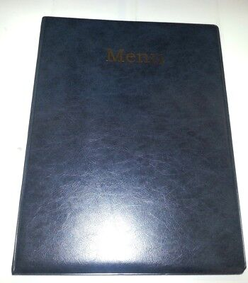 Qty 20 A4 Menu Cover/Folder In Grey/Black Leather Look Pvc