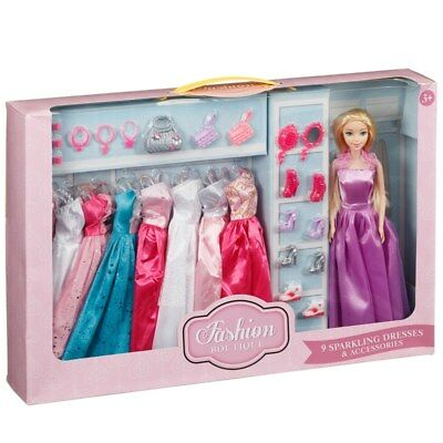 Sparkling Gown Fashion Boutique Dress Up Doll & Accessories Kids Toy Ages 3+ NEW