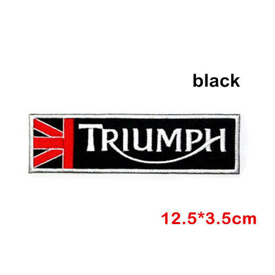 Triumph Motorcycle Or Car  Style Sew Or Iron On  Patch (Traditional Black)