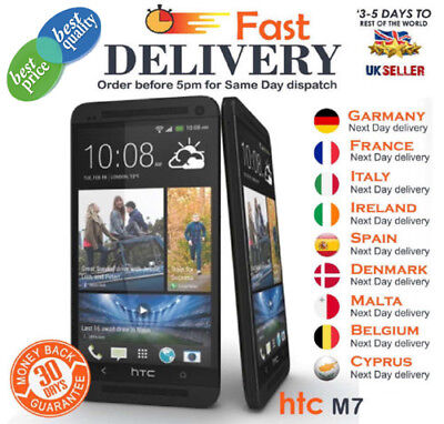 New HTC ONE M7 - 32GB - Black Android Smartphone 4.7-Inch Unlocked