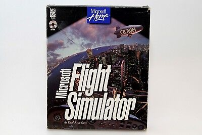 Microsoft Flight Simulator, Version 5.1 (1995), CD-Rom for MS-Dos – Boxed and Co
