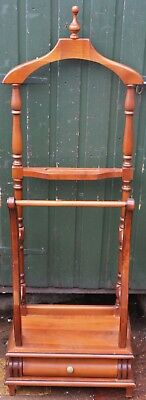 Very Clean Looking Large Wooden Valet Stand For Easy Restoration