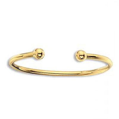 9ct Gold Hollow Baby Torque Bangle 1.90G