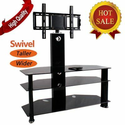 Tempered Glass TV Stand with Bracket for 55 inches Plasma LCD TV 80kg DE