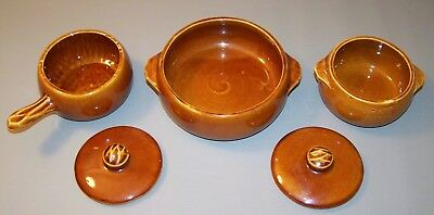 Vintage McCoy Pottery Brown Individual Casserole - Lot of 3 - Please Read