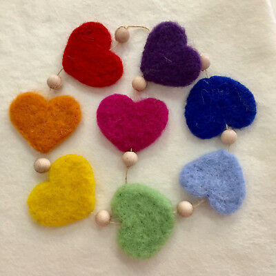 needle felting garland kit beginner level craft, many different designs free p+p