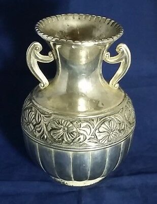 Beautiful Vintage Heavy Silver Plated Vase