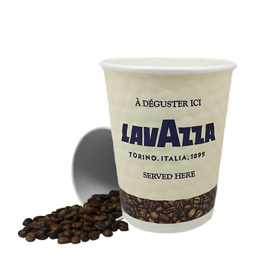 New Lavazza Embossed Cups 8oz and 12oz {Double walled paper}