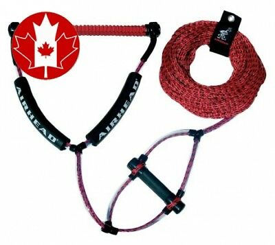 Kwik Tek Wakeboard Rope Phat Grip Handle Trick Handle, Red