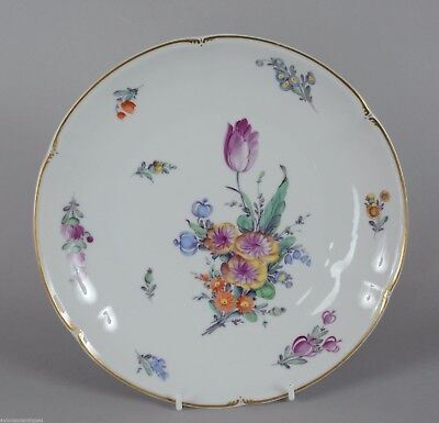 "Beautiful Nymphenburg Floral Cabinet Plate 9 3/8"" Porcelain"