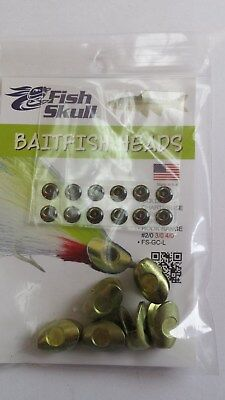 "FISH SKULL BAITFISH HEADS "" Golden Chartreuse ""  LARGE"