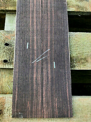 Macassar ebony bookmatched guitar headplate / veneer / inlay set