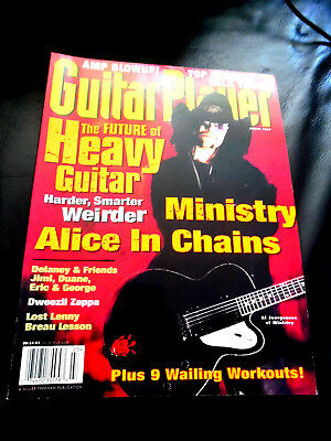 Vintage Guitar Player Magazine - ALICE IN CHAINS - MINISTRY - March 1996
