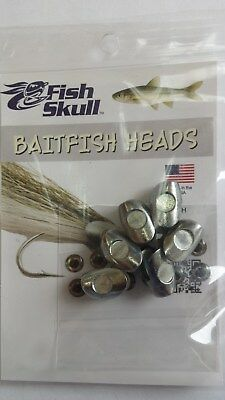 "FISH SKULL BAITFISH HEADS "" Silver Baitfish ""  LARGE"