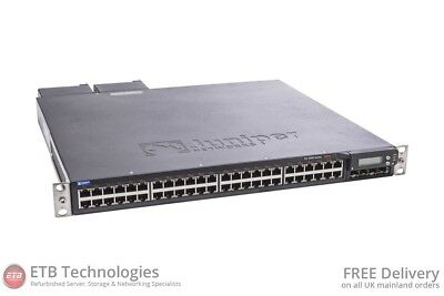 Juniper EX4200-48P Layer 3 PoE Switch with 10Gbps Uplink Module