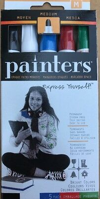 Elmer's Painters 5 Opaque Acrylic Permanent Markers For Fabric/glass/Wood/metal