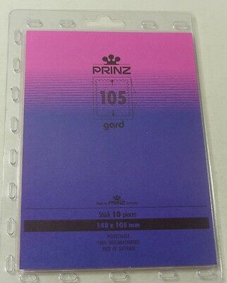 Prinz Gard Stamp mounts CLEAR backed blocks per 10 - size 148 x 105