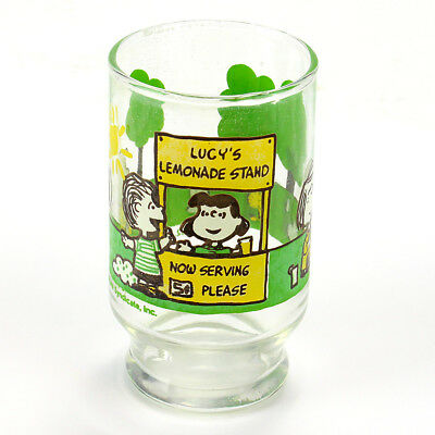 Vintage Lucy's Lemonade Stand Drinking Glass Peanuts