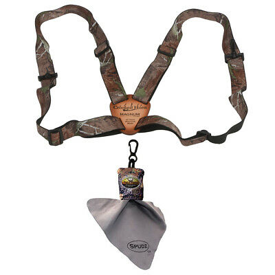 Crooked Horn Slide N Flex Bino System, Camo, with Spudz Lens Cleaning Cloth