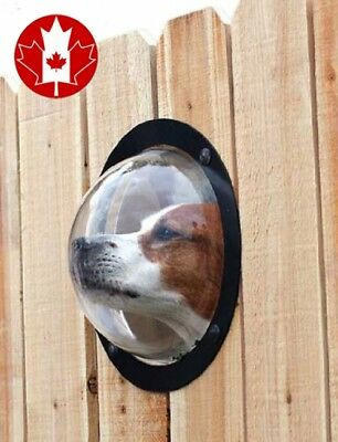 PetPeek Heavy Duty Acrylic Dome Fence Window for Pets Made in USA New 2017