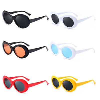 Kurt Cobain sunglasses Clout Goggles Rapper Oval Sunglasses Fancy Dress Party