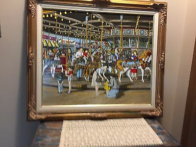 THE CAROUSEL by H.Hargrove Limited Special Edition 50th Anniversary Canvas