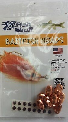 "Fish Skull Baitfish Heads "" Coppertone ""  Small-Medium"