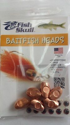 "Fish Skull Baitfish Heads "" Coppertone ""  Large"