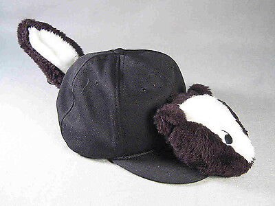 Skunk Funkap with Faux Fur Head and Tail