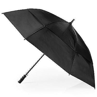 Totes Stormbeater Vented One-Touch Auto Open Golf Umbrella, Black Cloud New
