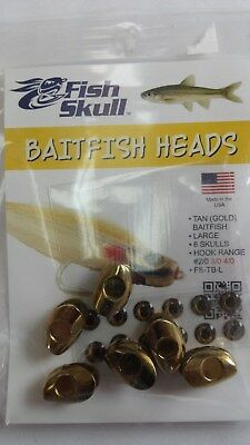 "Fish Skull Baitfish Heads "" Tan(Gold) ""  Large"