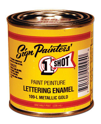 One Shot / Ppg Industries Os199L8  Lettering Enamel Lettering Black 8Oz