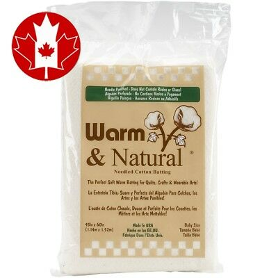 Warm Company and Natural Cotton Batting-Crib Size 45-InchX60-Inch