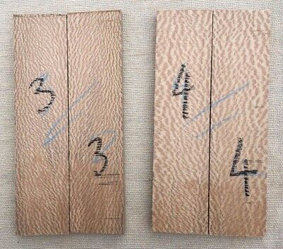 Lacewood / London plane bookmatched razor scale / inlay sets