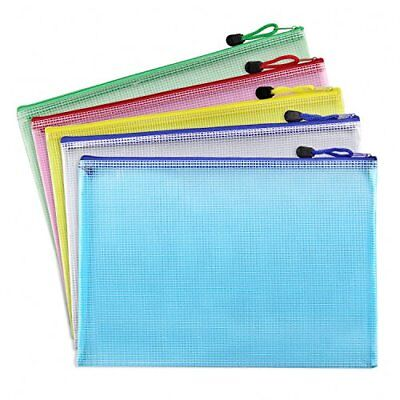 Bilipala Plastic Zip Document Filing Folder Bag Storage Pouch with A4 Size