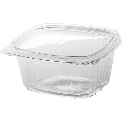 Genpak AD16 16 oz. Clear Hinged Deli Food Container (200 Piece- Pack) New